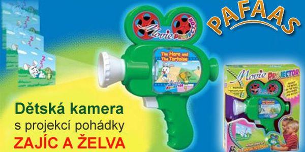 Potěšte své nejmenší krásnou dětskou kamerou s projekcí pohádky Želva a zajíc za pouhých 129 Kč s HyperSlevou 63 % a zabavte je touto krásnou hračkou!