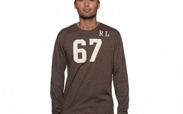 Pánské hnědé tričko Ralph Lauren s číslem