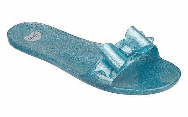 Světle modré pantofle Mel