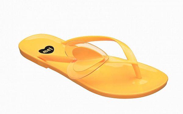 Dámské žluté žabky Mel se s rdíčkem