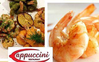 Luxusní večeře - 30 ks krevet! Pochutnejte si ve známé restauraci. Vaří špičkoví šéfkuchaři!