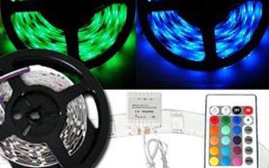 5metrový RGB pásek s dálkovým ovládáním včetně zdroje! Dekorativní osvětlení pro jakýkoli interiér