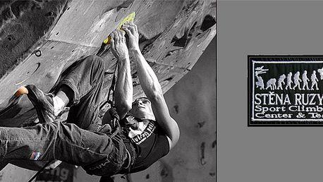 120 minutový individuální lezecký kurz včetně vybavení na umělé stěně 12m!