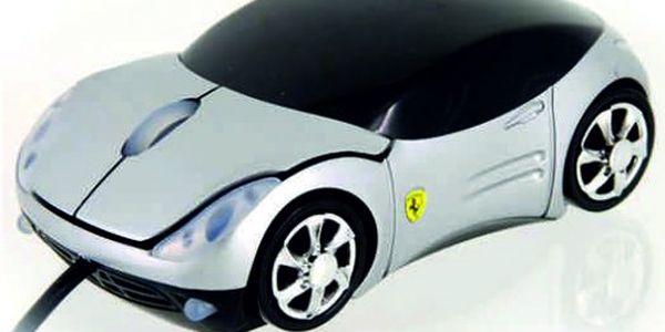 Splňte si sen!!! USB myš k PC ve tvaru luxusního stříbrného auta nyní za pouhých 219 Kč!!