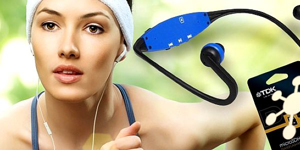 Sportovní sluchátka se zabudovaným MP3 přehrávačem!