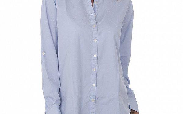 Dámská světle modrá maxi košile Tommy Hilfiger