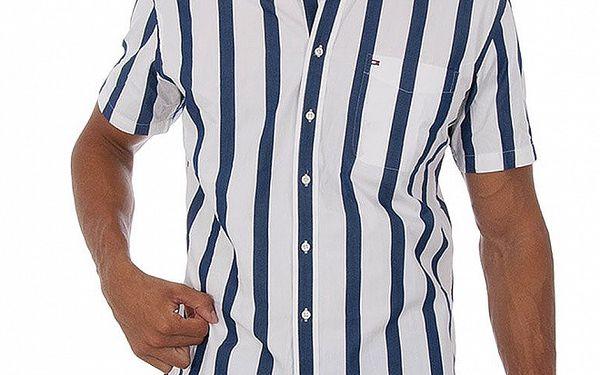 Pánská modrobílá proužkovaná košile Tommy Hilfiger