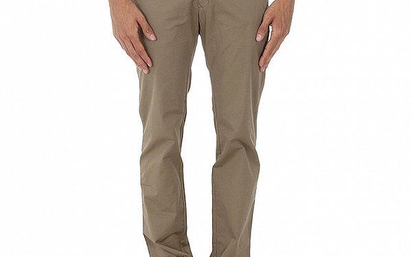 Hnědo - zelené kalhoty Tommy Hilfiger
