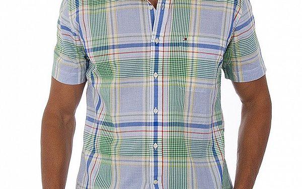 Pánská modrozelená košile Tommy Hilfiger