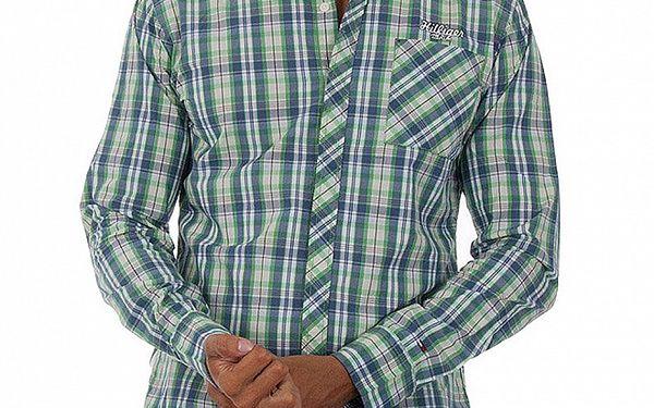 Pánská modrozelená kostkovaná košile Tommy Hilfiger