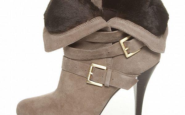 Dámské krémové semišové boty Guess