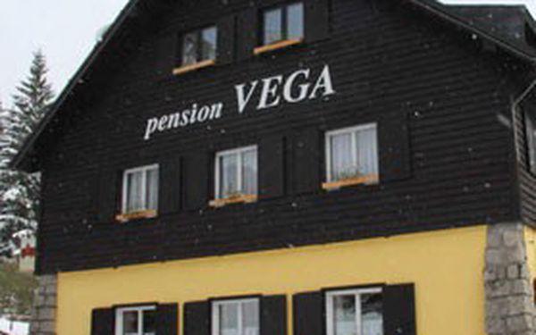 ZIMNÍ DOVOLENÁ pro 2 osoby s výbornou polopenzí a ubytováním v horském penzionu VEGA v Krkonoších