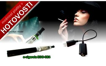 Nejnovější model e-cigarety typu EGO, CE4 s clear echomizerem, skvělé těšní, nejvýkonnější baterie 1100mAh vč. usb nabíječky. Akční cena 299,-Kč.