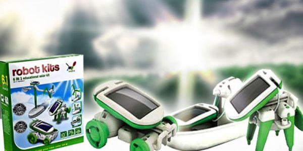 SOLARBOT 6v1 - interaktivní hračka na solární pohon v akci na Hyperslevy.cz! Sestavte si 6 různých funkčních modelů, od auta po pejska, jen za 139 Kč! Sleva 72%!
