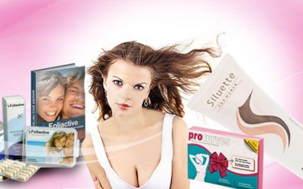 SILUETTE krém pro plnější a pevnější poprsí anebo FOLIACTIVE Pack tablety + sprej pro regeneraci a redukci ztráty vlasů za skvělých 699 Kč! Získejte větší sebevědomí a krásný dekolt či bujnou kštici se slevou 53%!