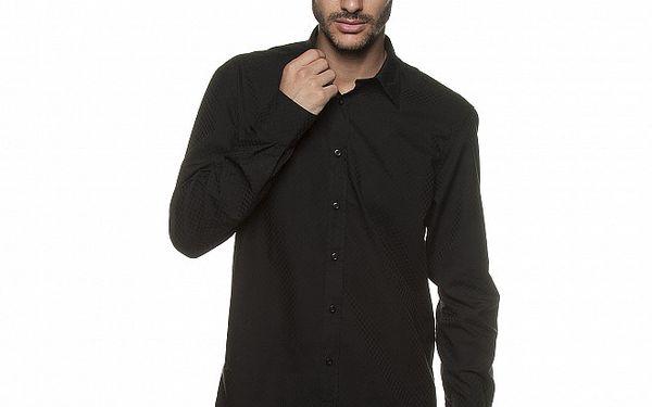 Pánská černá Košile Armand Basi s transparentním vzorem