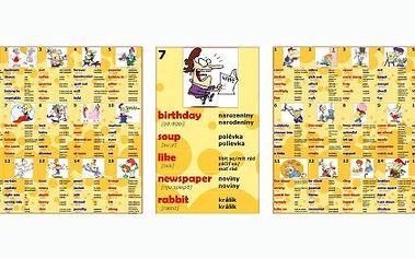 248 Kč za výukový kalendář angličtiny, tato skvělá učební pomůcka vám umožní se naučit denně 5 nových slovíček, tedy 1740 slovíček za rok! Nyní se slevou 50%