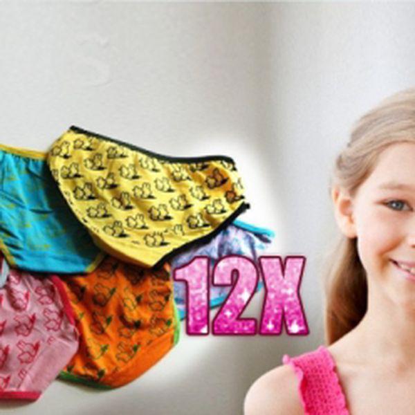 12 kusů kvalitních a pohodlných dívčích kalhotek za jedinečných 192 Kč! Včetně poštovného! Balíček obsahuje různé barvy! Sleva 66%!