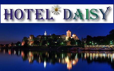 Krakov, ubytování pro 2 osoby na 2 noci se snídaní, Hotel Daisy Superior***. Nejnavštěvovanější město Polska s historickými domy a paláci, kde si připadáte jako ve Vídni nebo Florencii. Krásný víkend v metropoli na řece Visle - romantický pobyt pro dva!