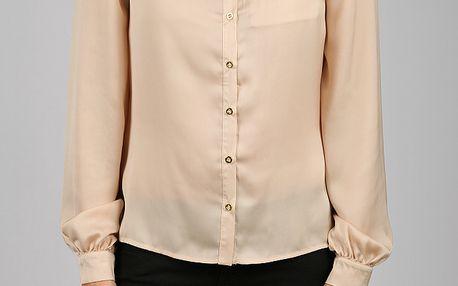 Dámská zlatá saténová košile Dex