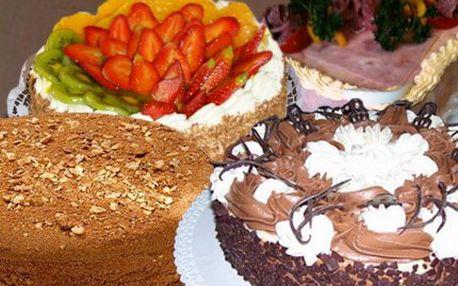 Neomezená přenosná permanentka! Nakupujte dorty i chlebíčky až s 50% slevou!
