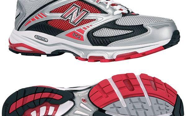 Pánské stříbrno-červené běžecké boty New Balance