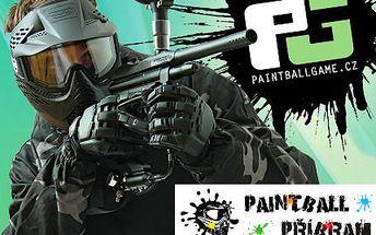 Adrenalinový paintball! 4 hodiny včetně značkovače s pohonem, termální masky!