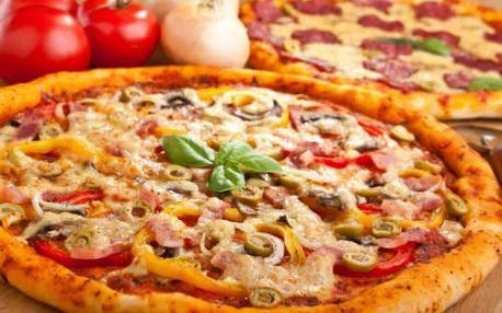 Dvě velké pizzy za cenu jedné! Vychutnejte si dvě velké pizzy dle vlastního výběru jen za 129 Kč!