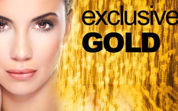Absolutní bomba! Kosmetické ošetření GOLD kosmetikou s obsahem zlata a mořským kolagenem v kombinaci s ultrazvukovým ošetřením pleti! Viditelně omlazuje pokožku, navrací pleti vitalitu a mladistvý vzhled! Tohle musíte vyzkoušet!