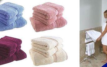 Dva hebké bavlněné ručníky s nejvyšší gramáží! Gramáž 750 g/m a výběr z 5 barev za skvělou cenu se slevou 50%!!! Zabalte se po sprše do hebké přírodní bavlny!