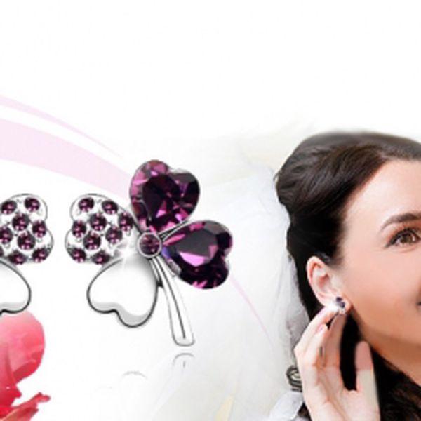 Náušnice ČTYŘLÍSTEK pro štěstí za pouhých 249 Kč VČETNĚ POŠTOVNÉHO! Darujte tento nádherný šperk jako dárek manželce, kamarádce, mamince či dceři :-) Sleva 63%!