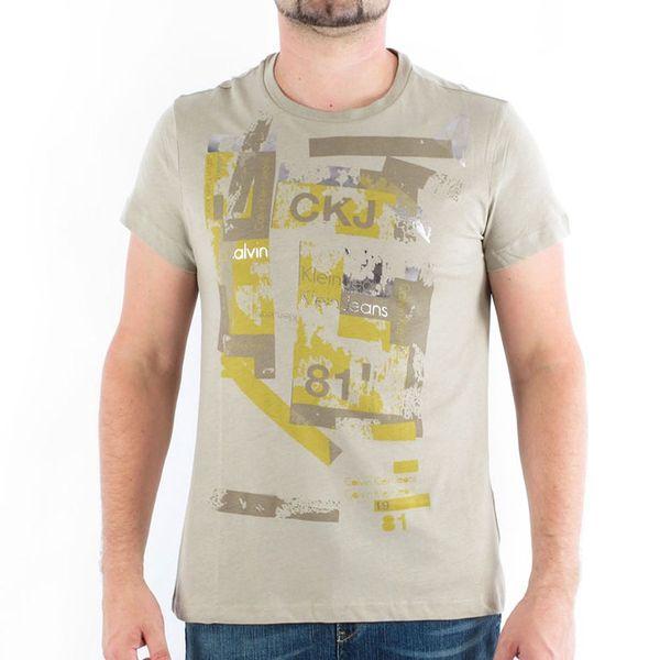 CALVIN KLEIN pánské tričko cmp58p_8b1_marron_clair
