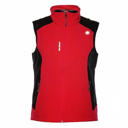 Dámská růžová softshellová vesta Alpine Pro
