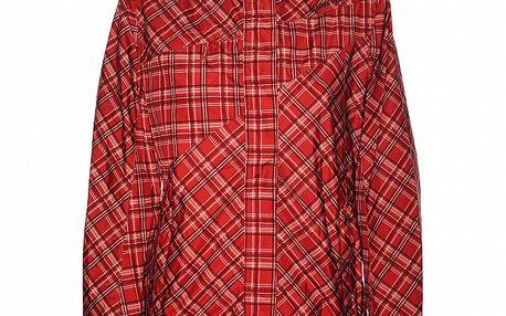 Dámská červená károvaná bunda Alpine Pro