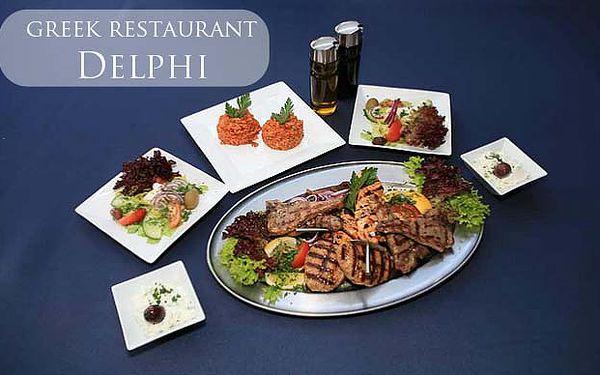 Řecká večeře pro dva na břehu Vltavy