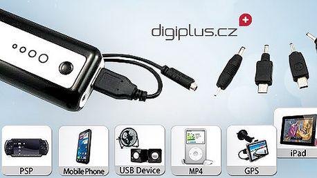 Externí zdroj energie pro váš telefon, přehrávač atd.