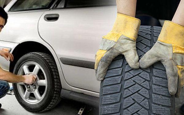 Přezutí pneumatik s kontrolou závaží a brzd