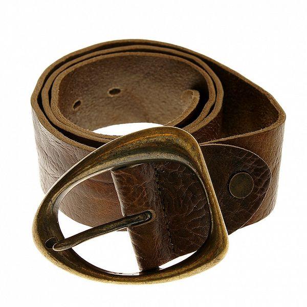 Dámský hnědý kožený pásek Gas