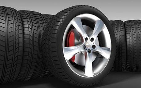 Kompletní přezutí pneumatik za super cenu 229 Kč + jako bonus možnost uskladnění Vašich pneu se slevou 50 %!