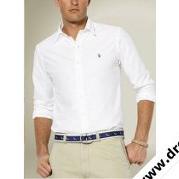 Pánská košile Ralph Lauren Oxford bílá