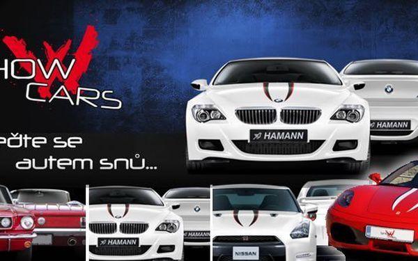 FERRARI F430, PORSCHE 911 Turbo, NISSAN GT-R, nebo BMW M6 (úprava HAMANN!!) s maximálně drtivou 83% slevou jen za 999Kč!! Poukaz možné uplatnit až do30.06.2013
