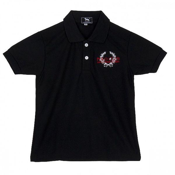 Dětské černé polo Polo Club s výšivkou