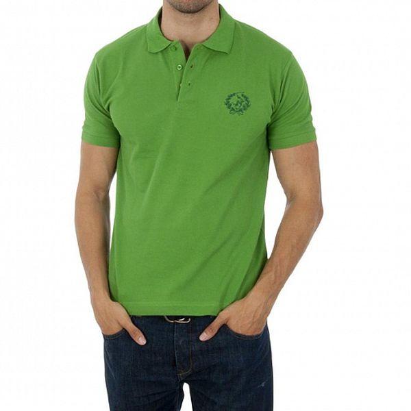 Pánské světle zelené polo Polo Club s výšivkou