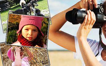 Focení v exteriérech v 1 hodině! Profesionální fotografka nafotí 100 fotek, z nichž 20 upraví!
