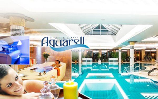 Wellness pobyt v maďarsku v luxusním hotelu aquarell**** jen za 5990 kč pro 2 osoby na 4 dny/ 3 noci! Polopenze, wellness služby, bazén! Sleva 40%!