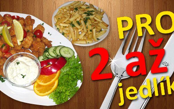 Specialita podniku: půl kila výtečných kuřecích mini řízečků a 400 gramů zlatavých hranolek jaké jste ještě nejedli pro až 4 jedlíky! K tomu dva druhy omáček (BBQ, bylinková) a zeleninová obloha. Dejme si to, co máme všichni rádi za pouhých 199 Kč (v hodnotě 480 Kč)! Vyhlášená restaurace Baba Jaga vás zve na specialitu šéfa kuchyně na kterou opravdu nezapomenete.