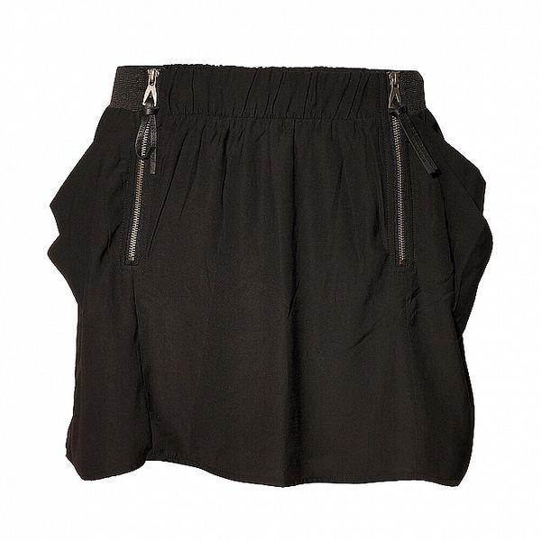 Dámská černá mini sukně Eleven Paris se zipy