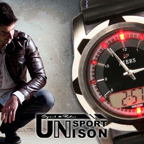 449 Kč za pánské značkové hodinky AIERS. Kvalita a stylové provedení. Kombinace analogového a digitálního času, sedm barev LED podsvícení. HyperSleva 71 %.