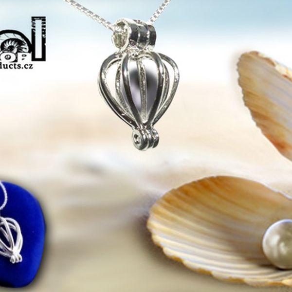 Pravá přírodní perla s náhrdelníkem