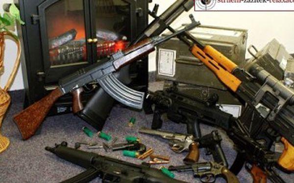 1 299 Kč za ADRENALINOVÝ ZÁŽITEK v podobě STŘELBY z 10 zbraní s 90 náboji-KLADNO,JÍČÍN, PROSTĚJOV.